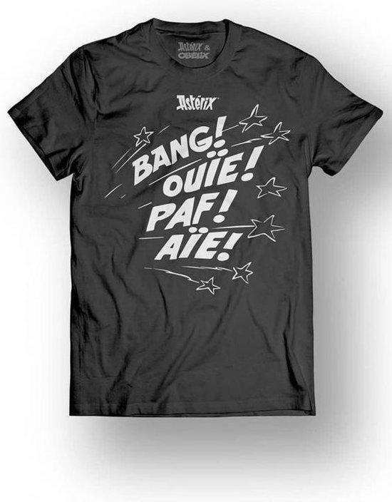 ASTERIX & OBELIX - T-Shirt - Bang! Ouie! Paf! Aie! - Black (S)