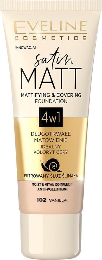 Eveline – Satin Matt Foundation Matting Face Primer 102 Vanilla 30Ml