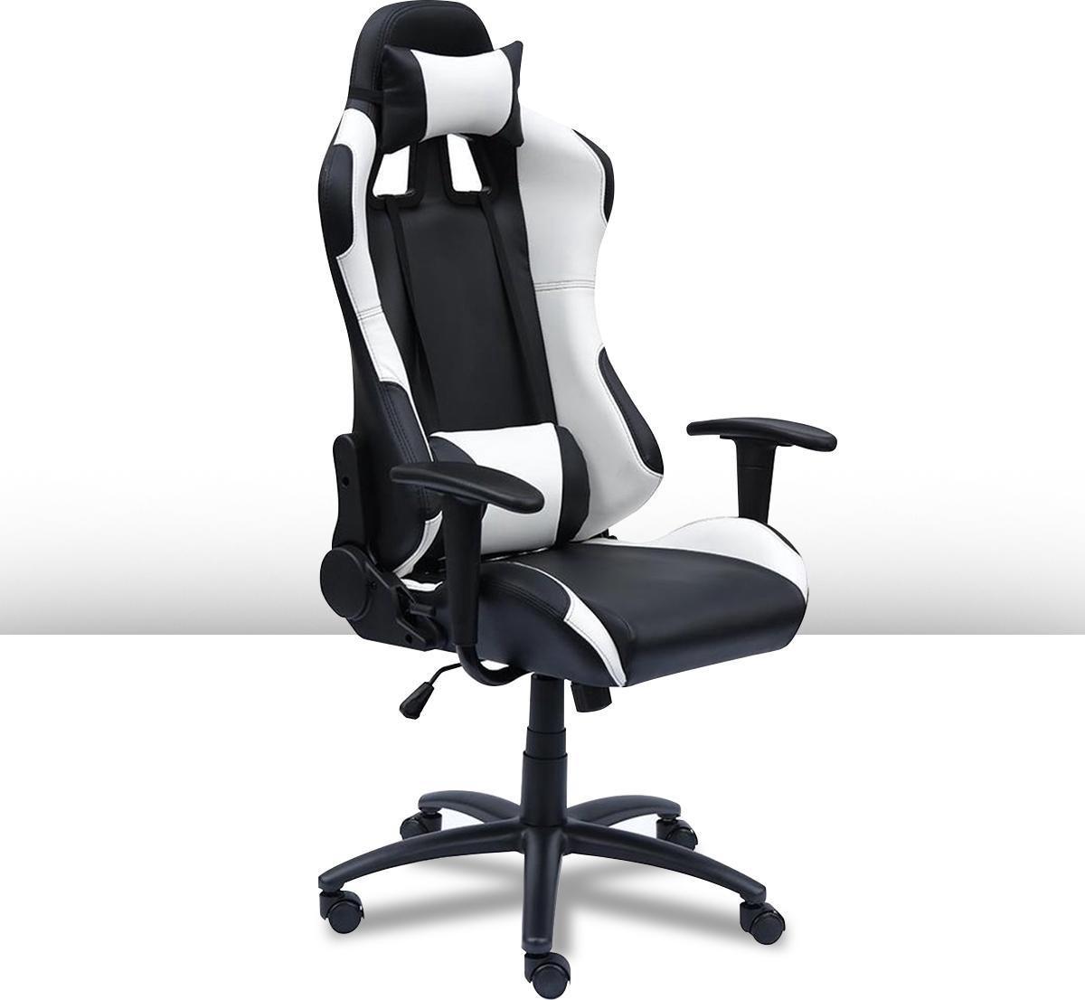 Ocazi Gamestoel - Gaming Stoel - Gaming Chair  - Bureaustoel - Instelbare Zithoogte - Wit - New York