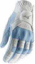 Stretch dames handschoen - rechthandig Blauw/Wit