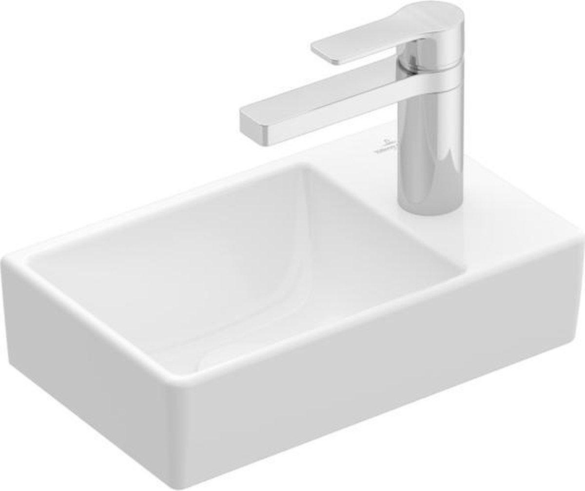 Villeroy & boch Avento fontein 1 kraangat rechts zonder overloop 36x22cm Ceramic+ stone white