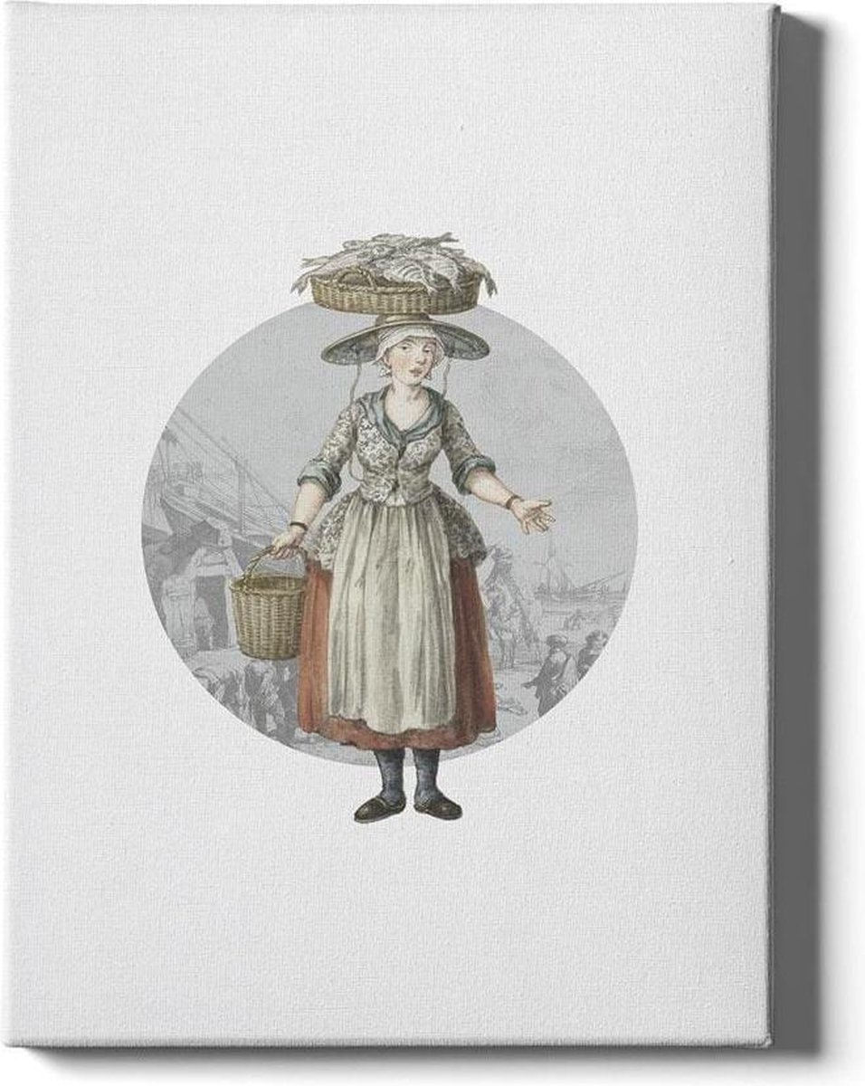 Fishmonger Scheveningen - Walljar - Wanddecoratie - Poster