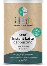 Go-Keto Instant Keto Koffie Cappuccino (60/40) lekker zoet 250gr