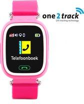 One2track Connect Touch - GPS Smartwatch kind met telefoon - Werking in heel Europa - Roze