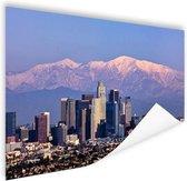 Los Angeles met bergen Poster 180x120 cm - Foto print op Poster (wanddecoratie woonkamer / slaapkamer) / Steden Poster XXL / Groot formaat!