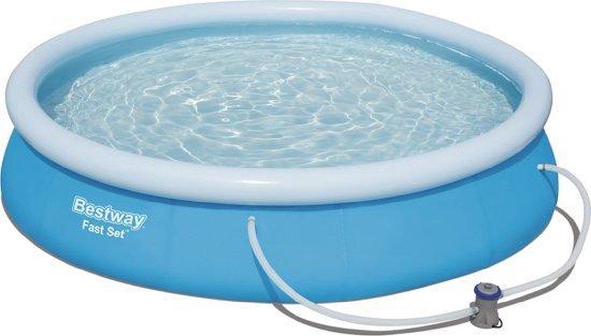 Bestway Fast Set met Filterpomp Rond 366cm x 76cm - Opblaas zwembad