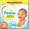 Pampers Premium Protection Luiers - Maat 3 (6-10 kg) - 204 stuks - Maandbox