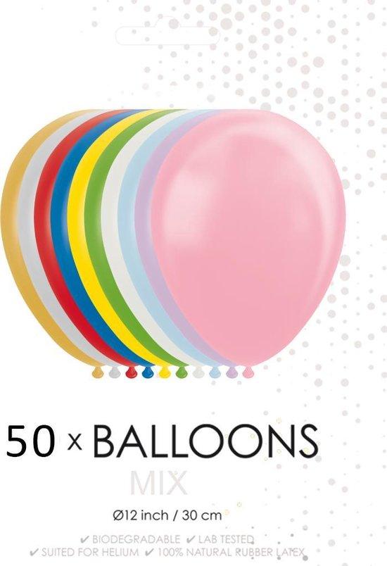Globos Ballonnen 30,5 Cm Latex Parelmoer/metallic Mix 50 St