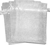 Organza zakjes - wit 10x15 cm - 100 stuks / cadeauzakjes