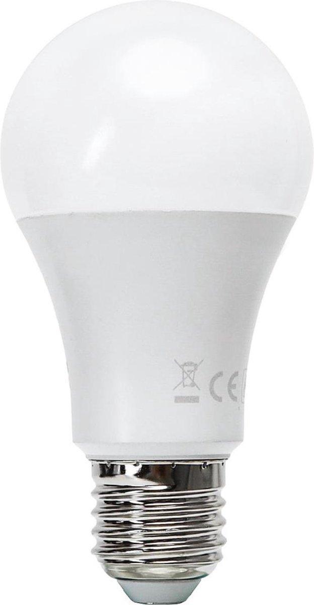 LED Lamp - Smart LED - Aigi Exona - Bulb A60 - 9W - E27 Fitting - Slimme LED - Wifi LED - Aanpasbare Kleur - Mat Wit - Glas - BSE