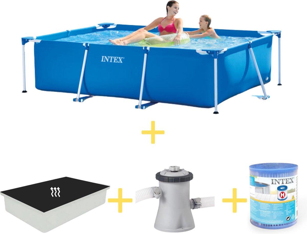 Intex Zwembad - Frame Pool - 220 x 150 x 60 - Inclusief Solarzeil, Filterpomp & Filter