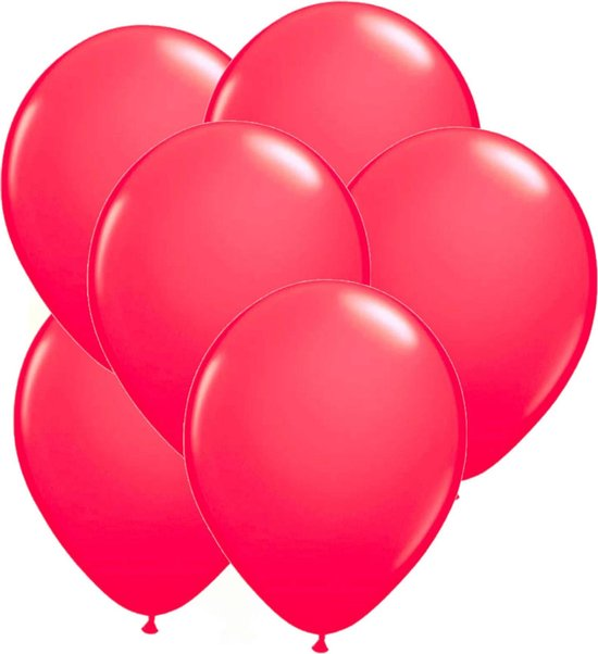 24x stuks Neon fel roze latex ballonnen 25 cm - Feestversiering/feestartikelen