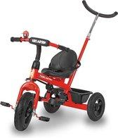 HyperMotion - Driewieler met duwstang en luchtbanden - Rood