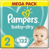 Pampers Baby Dry - Maat 2 - Mega Pack - 132 luiers