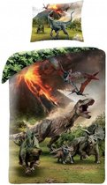 Jurassic World Lava - Dekbedovertrek - Eenpersoons - 140 x 200 cm - Multi
