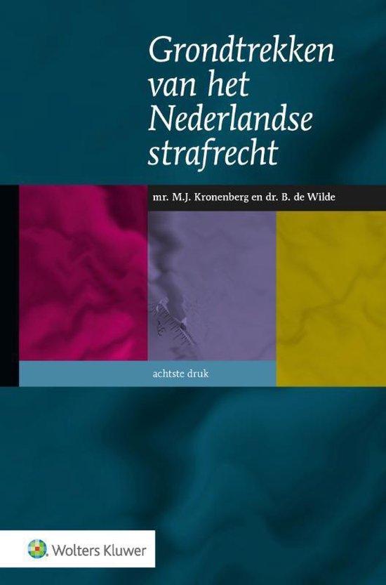 Boek cover Grondtrekken van het Nederlandse strafrecht van J.A. Tak (Hardcover)