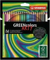 STABILO GREENcolors - FSC Gecertificeerd Kleurpotloden ARTY Etui 24 Kleuren