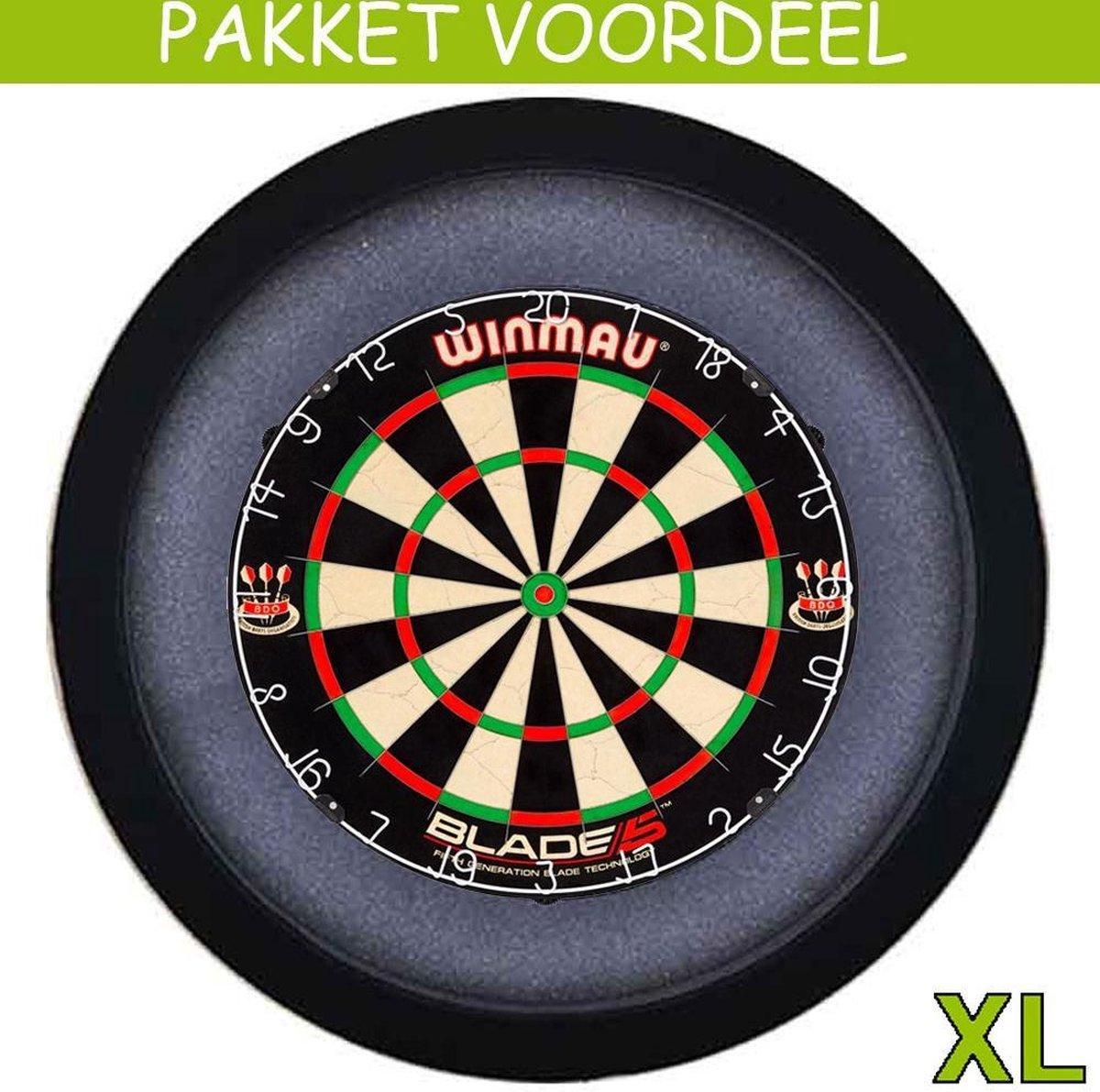 Dartbord Verlichting Voordeelpakket Pro + Blade 5 + Dartbordverlichting Basic XL(Zwart)