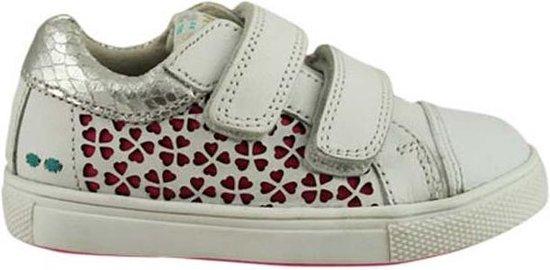 BunniesJR 219311-591 Meisjes Sneakers - Maat 23 - Wit - Sneakers - Stap Bunnies - Leer - Klittenband - Kindersneakers