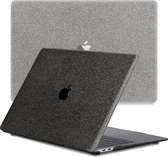 Lunso - cover hoes - MacBook Air 13 inch (2020) - Glitter Zwart