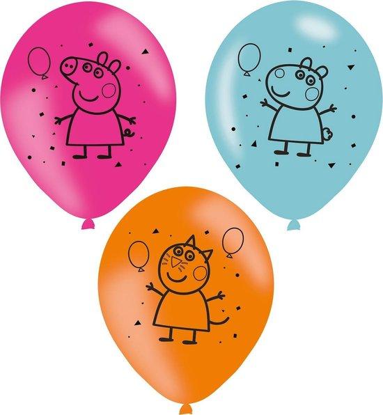 Peppa Pig Ballonnen 23cm 6st