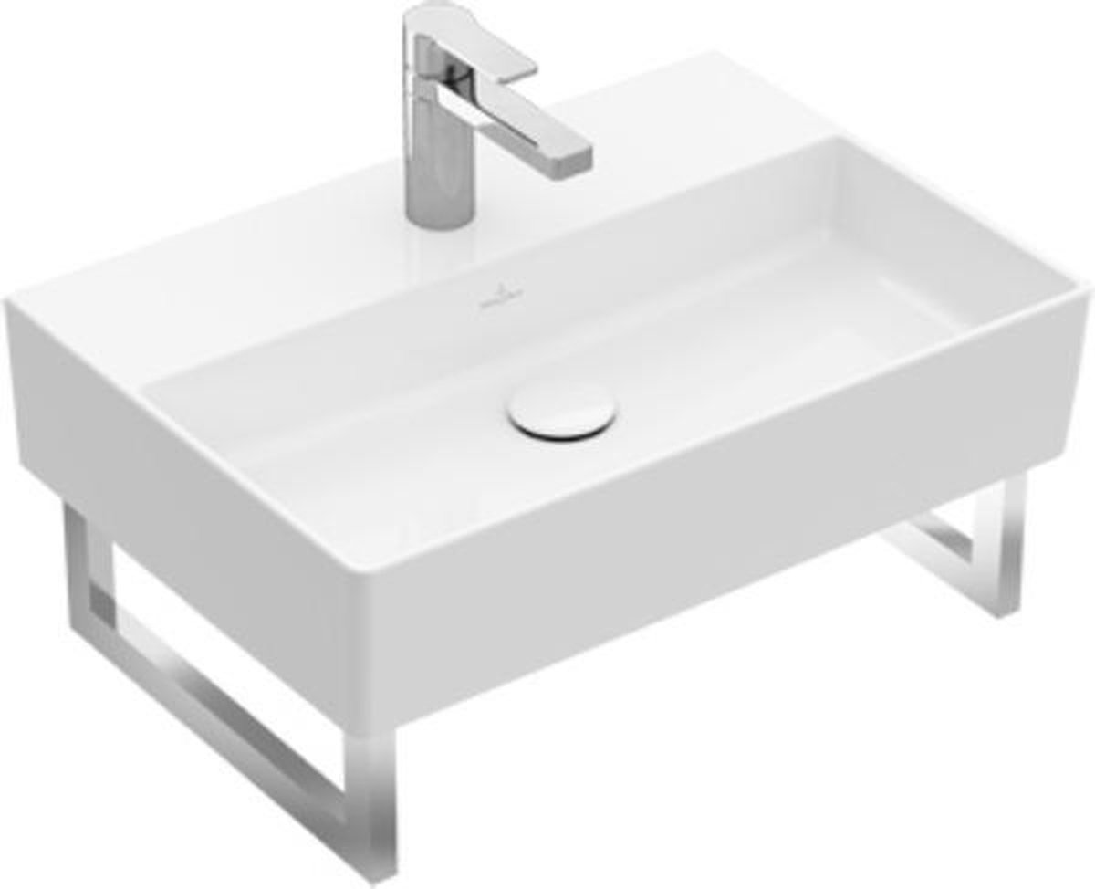 Villeroy & Boch Memento 2.0 wastafel voor handdoekhouders 60x42cm 1 kraangat ceramic+ wi
