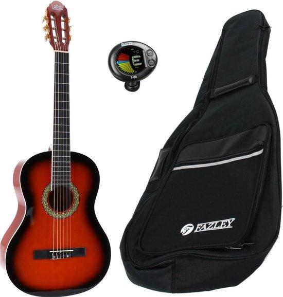 LaPaz 002 SB klassieke gitaar 4/4-formaat sunburst + gigbag + tuner