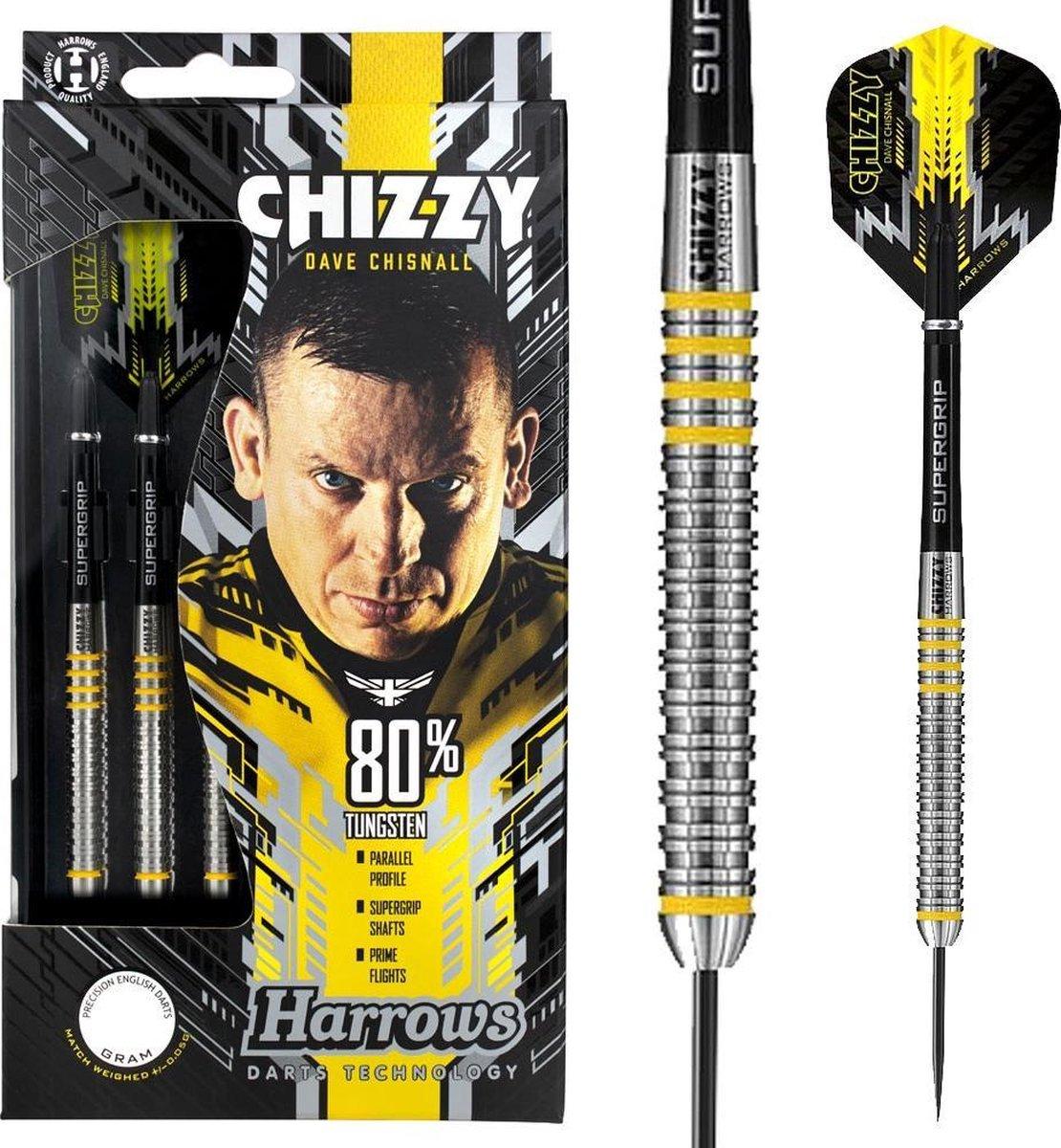 Harrows Dartpijlen Chizzy 80% Tungsten Steeltip Gewicht 26