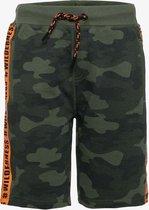 TwoDay jongens sweatshort met camouflage print - Groen - Maat 158/164