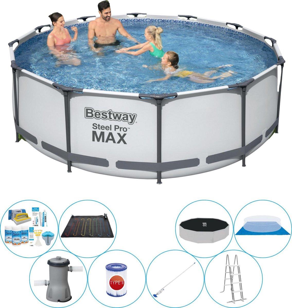 Zwembad Set - Bestway Steel Pro MAX Rond 366x100 cm