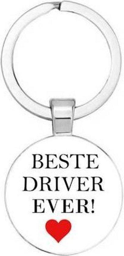 Akyol® Beste driver ever Sleutelhanger   Auto Sleutelhanger   Sleutelhanger Auto   Auto accessoires   Autoliefhebber   Leuke cadeau voor iemand die van auto's houdt   Sleutelhanger mannen   Sleutelhanger vrouwen