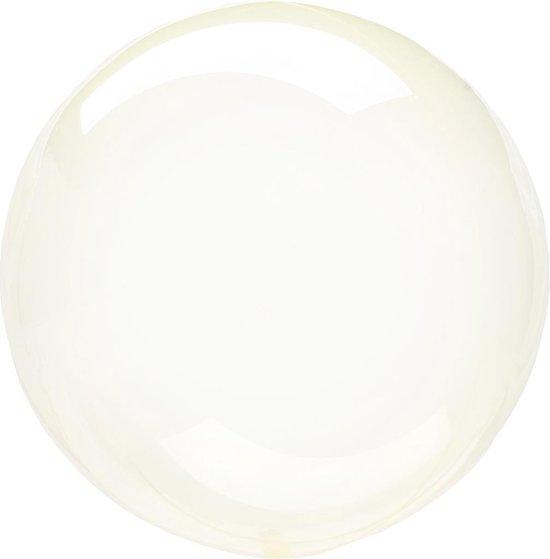 Anagram Folieballon Clearz Petite Crystal 30 Cm Transparant Geel