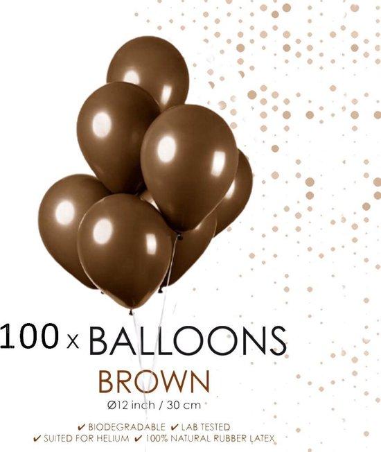100 ballonnen bruin 12 inch.