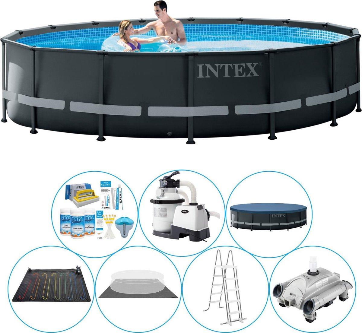 Intex Ultra XTR Frame Rond Zwembad - 488 x 122 cm - Voordeelpakket