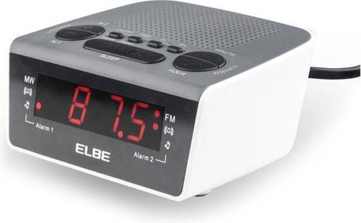 Radio alarmklok ELBE CR-932 AM/FM Wit