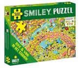 Smiley puzzel - zoek en vind in het stadion
