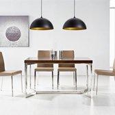 vidaXL Hanglamp - E27 - Zwart - Set van 2
