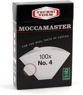 Moccamaster Filters - Koffiefilters - Wit - Nr. 4 - 100 stuks