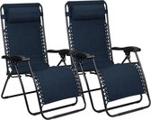 Abbey Campingstoel - Chaise Longue IV - Set van 2 - Marine