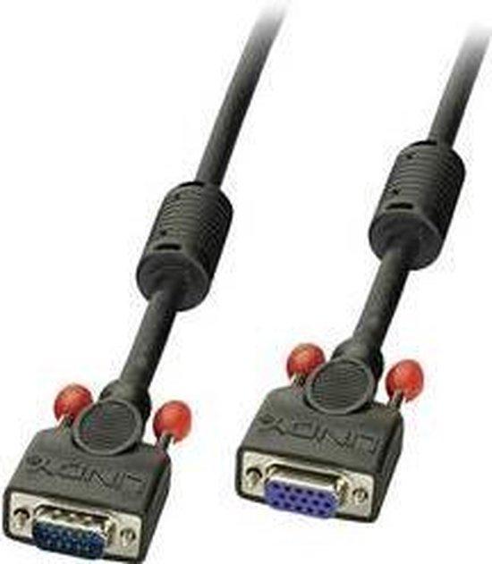 LINDY VGA Verlengkabel 1.00 m 36392 Zwart [1x VGA-stekker - 1x VGA-bus]