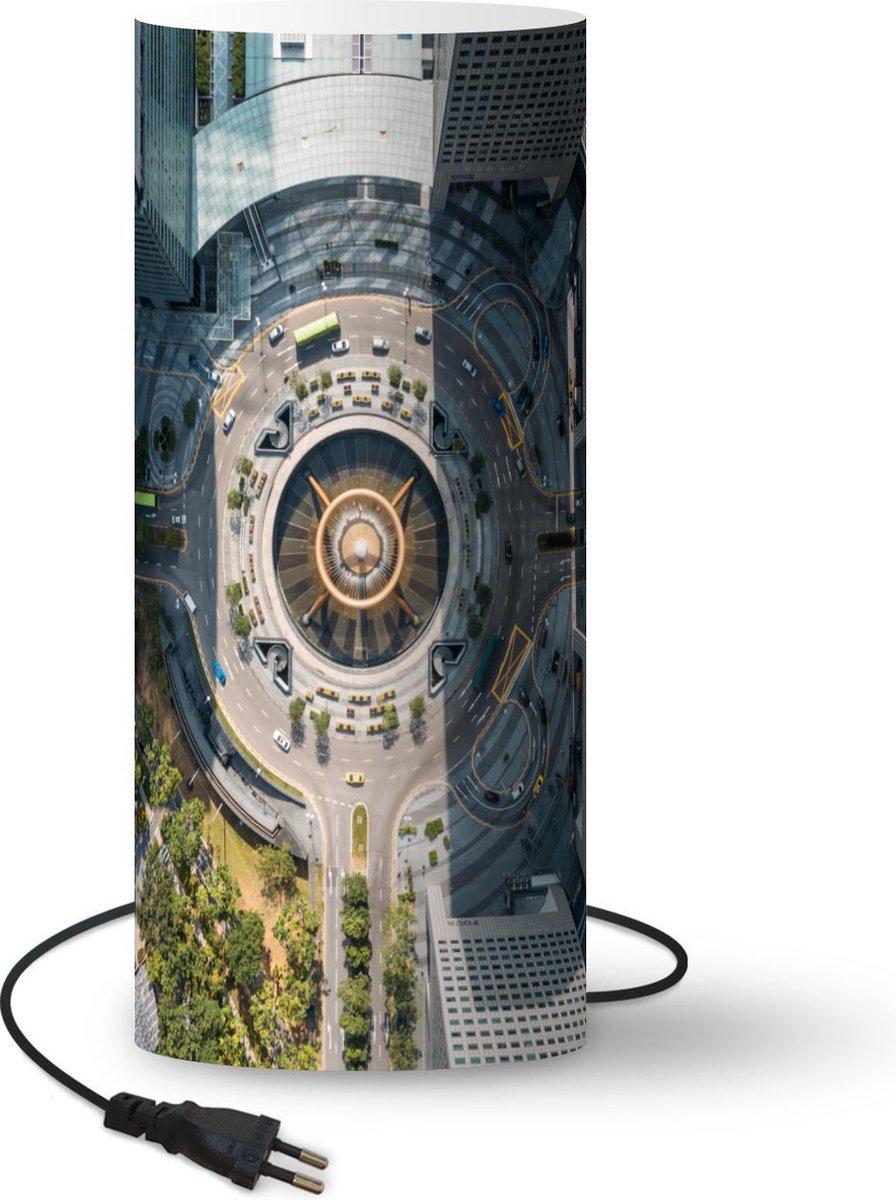 Lamp Fontein - Architectuur - Singapore - 54 cm hoog - Ø23 cm - Inclusief LED lamp