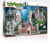Neuschwanstein kasteel - 3D puzzel - 890 Stukjes