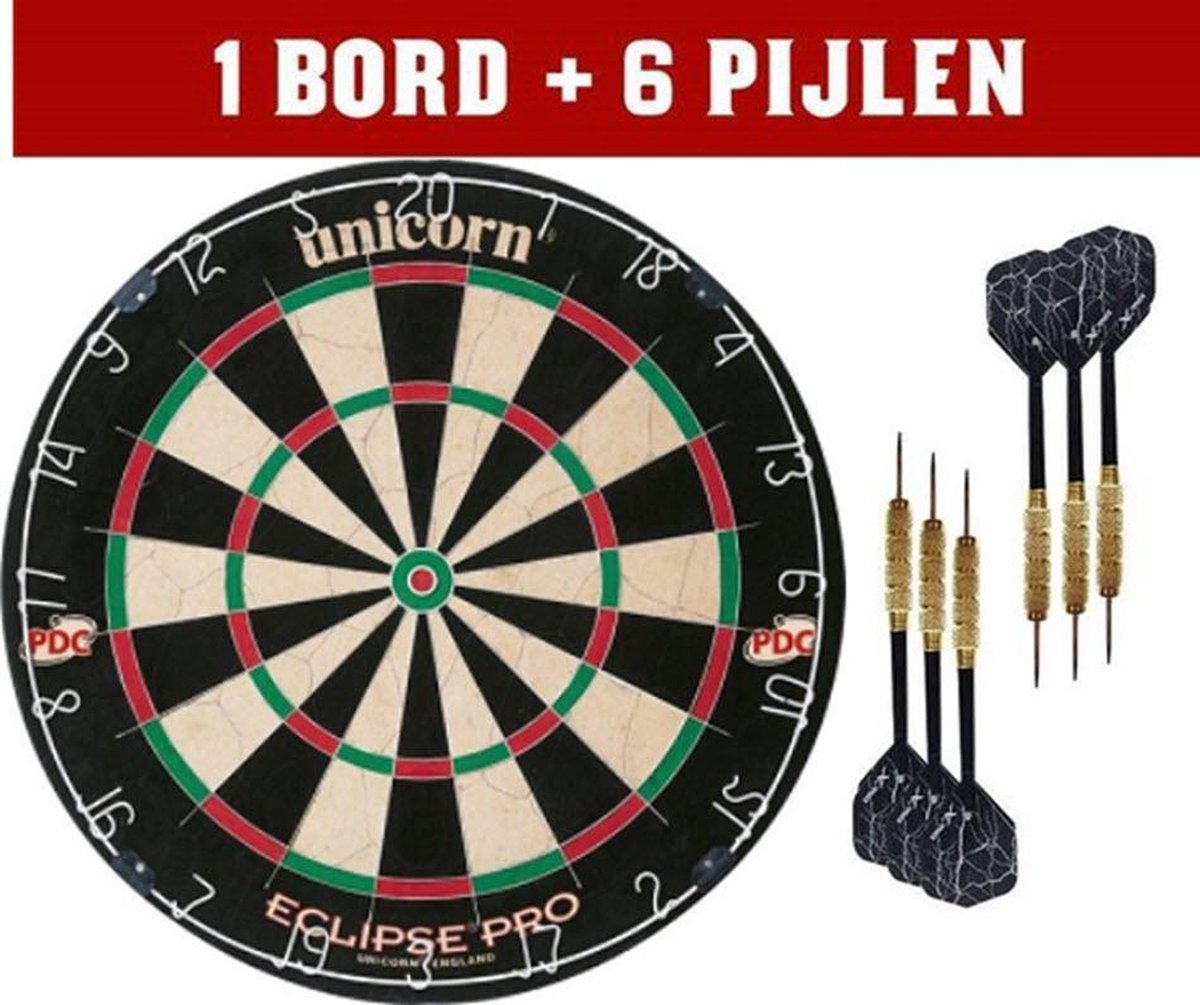 Dartbord Unicorn Eclipse pro 2 set |3 dartpijlen - PDC