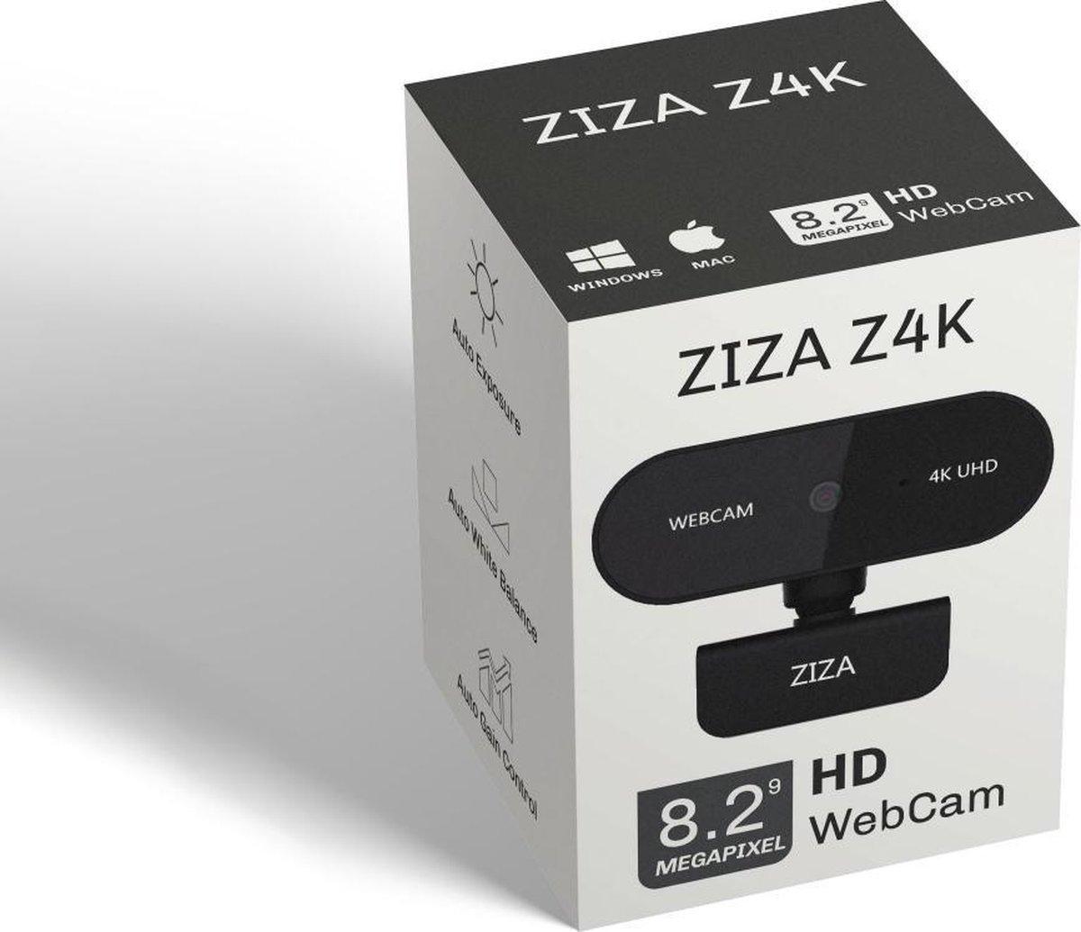 ZIZA Z4K webcam met microfoon | 4K Ultra HD | 3840 x 2160 | Autofocus | 8.29 MP