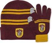 Harry Potter - Gryffindor handschoenen en muts kids