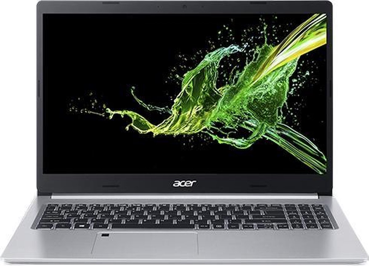 "Acer Aspire 5 A515-55 Notebook 39,6 cm (15.6"") 1920 x 1080 Pixels Intel® 10de generatie Core™ i7 8 GB DDR4-SDRAM 512 GB SSD Wi-Fi 6 (802.11ax) Windows 10 Home Zilver"