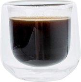 DUBBELWANDIG GLAS KOPJE S2 70ML 7X6.5 X6.5CM COSY & TRENDY