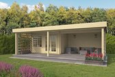 Blokhut 40mm Lilou (55m² Easy roofing)