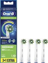 Oral-B CrossAction - Opzetborstels- Met CleanMaximiser-technologie - Wit - 4 Stuks