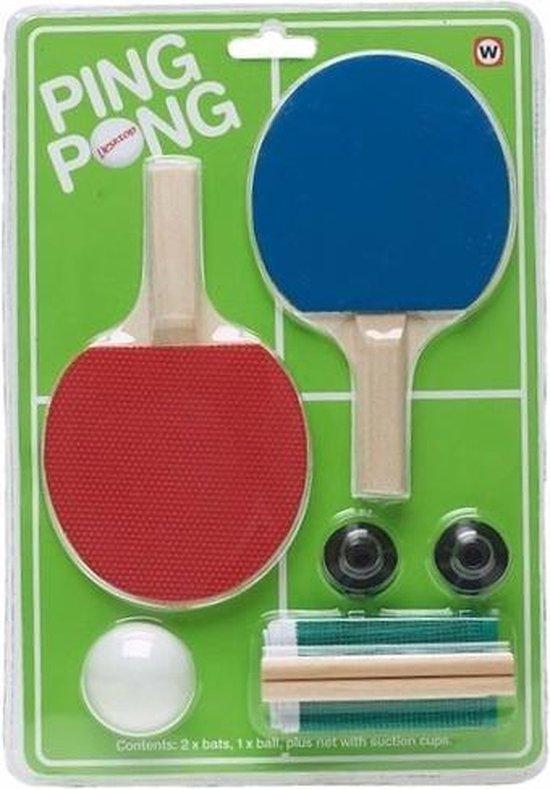 Ping Pong set voor kantoor - Office gadgets/kantoor humor speelgoed
